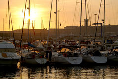 jachtów dopłynęli Zdjęcia Royalty Free