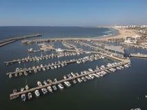 Jachtów i łodzi dok przy Ashdod marina Zdjęcie Royalty Free