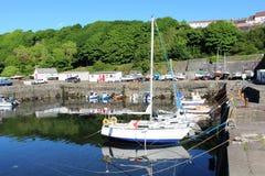 Jacht łodzi Dunure schronienia Południowy Ayrshire Szkocja Obraz Stock
