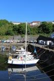 Jacht łodzi Dunure schronienia Południowy Ayrshire Szkocja Fotografia Royalty Free