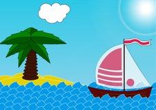 Jacht royalty-vrije illustratie