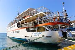 Jacht - Aegina-eiland Stock Afbeelding