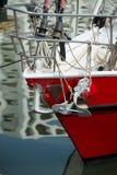 Jacht en anker Royalty-vrije Stock Foto's