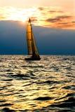 Jacht in het overzees Royalty-vrije Stock Foto