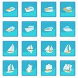 Jacht ikona błękitny app ilustracji