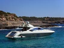 Jacht in Majorca Stock Afbeeldingen