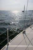 Jacht na jeziorze Obraz Royalty Free