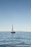 Jacht na morzu Zdjęcie Royalty Free