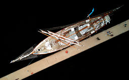 Jacht na schronieniu Obrazy Stock