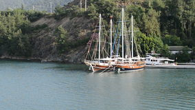 Jacht na Tureckim kurorcie zbiory wideo