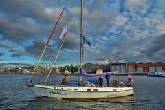 Jacht op Neva Royalty-vrije Stock Foto's