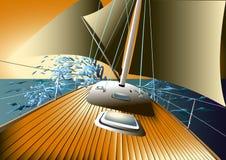 Jacht op volle zee Stock Foto's