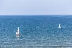 Jacht op zee Royalty-vrije Stock Fotografie