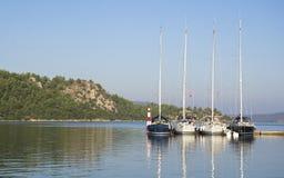 Jacht Pier Berth Stock Foto