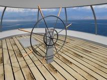 jacht pokładu Zdjęcie Royalty Free