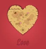 Jacht van Liefdeachtergrond Stock Afbeelding
