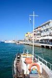 Jacht w Agios Nikolaos schronieniu, Crete Obraz Stock