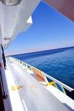 Jacht w czerwonym morzu Obraz Royalty Free
