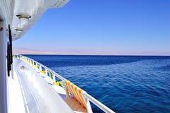 Jacht w czerwonym morzu Obrazy Royalty Free