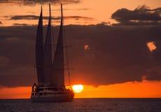 Jacht w morzu Zdjęcia Stock