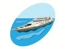 Jacht w morzu ilustracji