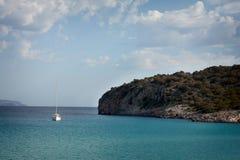 Jacht w morzu Obraz Stock