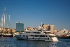 Jacht w porcie Barcelona Zdjęcie Stock