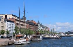 Jacht w porcie Helsinki Zdjęcie Stock