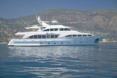 Jacht w porcie przy święty Cajgową nakrętką Ferrat, Francuski Riviera, Francja Obraz Stock