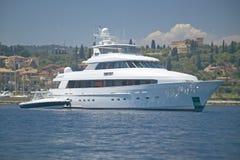 Jacht w porcie przy święty Cajgową nakrętką Ferrat, Francuski Riviera, Francja Fotografia Stock