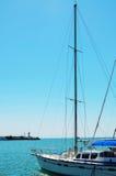 Jacht w schronieniu Obraz Royalty Free