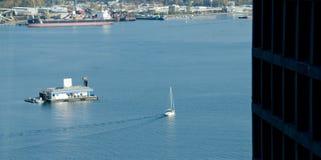 Jacht w Węglowym schronieniu, Vancouver Obraz Royalty Free