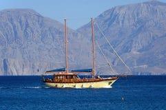 Jacht z Agios Nikolaos, Crete Obrazy Royalty Free