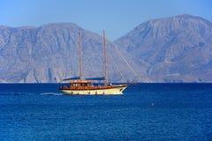 Jacht z Agios Nikolaos, Crete Obrazy Stock