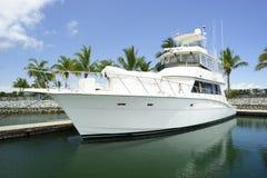 Jachtboot in Dok royalty-vrije stock foto's