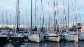 Jachtclub stock footage