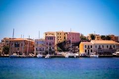 Jachten in baai op Creta Royalty-vrije Stock Afbeeldingen