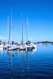 Jachten in de Club van het Jacht van Nieuw-Caledonië royalty-vrije stock fotografie