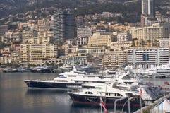 Jachten in de Haven van Monaco royalty-vrije stock afbeelding