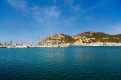 Jachten en haven van Haven d'Andratx Stock Afbeeldingen