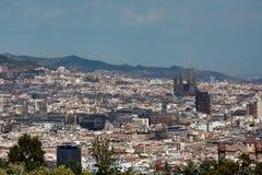 Jachten en zeilboten in de Haven Vell van Barcelona worden vastgelegd dat royalty-vrije stock afbeelding