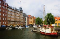 Jachten in Kopenhagen, Denemarken Royalty-vrije Stock Foto's