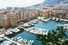 Jachten in Monaco Stock Fotografie