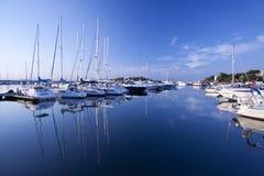 Jachthafen. Stockfoto