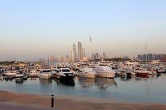 Jachthafen in Abu Dhabi Stockbilder