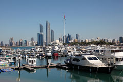 Jachthafen in Abu Dhabi Lizenzfreies Stockfoto
