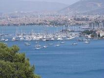 Jachthafen-Ansicht Stockfoto