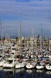 Jachthafen in Barcelona Stockbild