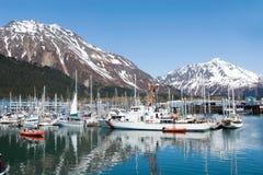 Jachthafen bei Seward, Alaska lizenzfreie stockbilder