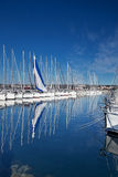 Jachthafen in Biograd, Kroatien lizenzfreie stockfotos
